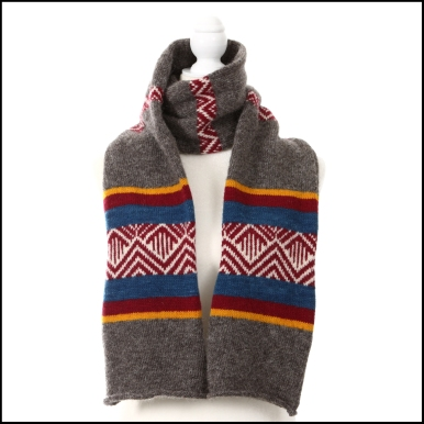 two ranges scarf -primary colors and grey_7198